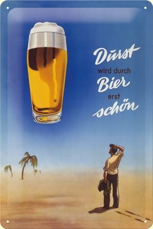 Plechová ceduľa Durst bier shon