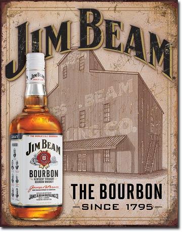 Plechová ceduľa Jim Beam The Bourbon
