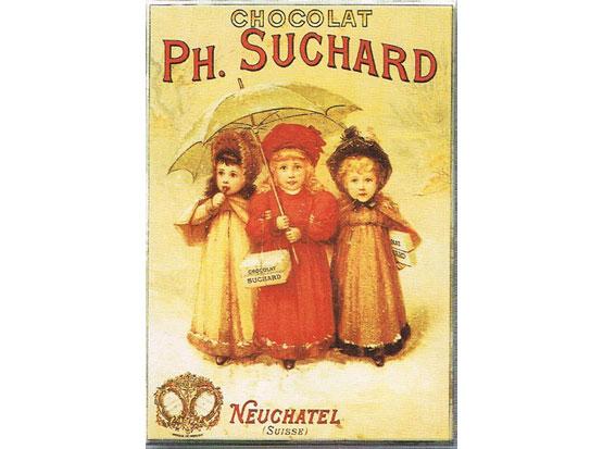 Plechová ceduľa Ph. Suchard