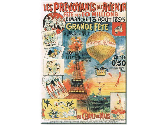 Plechová ceduľa Grande Féte - Eiffelovka - Paris