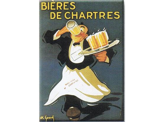 Plechová ceduľa Biéres de Chartres