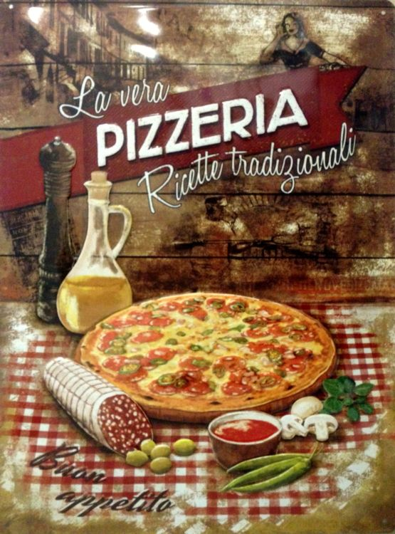 Plechová ceduľa La vera Pizzeria