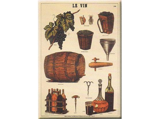 Plechová ceduľa Le vin - víno