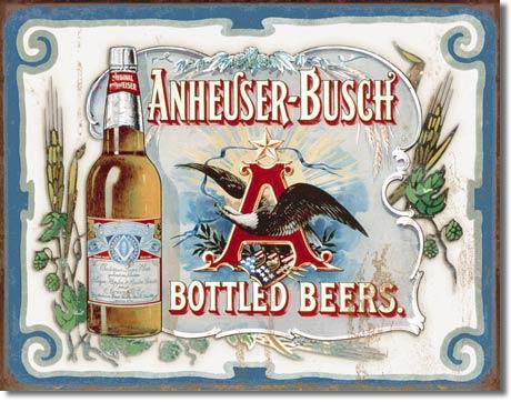 Plechová ceduľa Budweiser - Anheuser - Busch