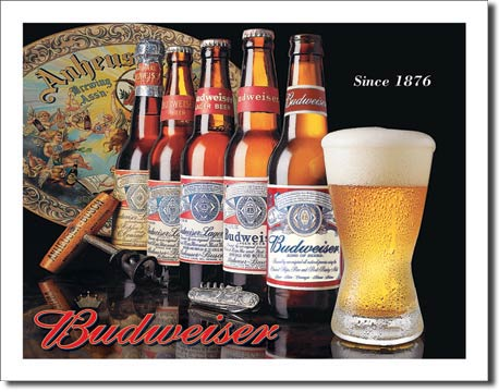 Plechová ceduľa Budweiser - since 1876