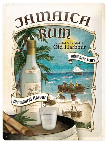 Plechová ceduľa Jamaica Rum