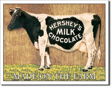 Plechová ceduľa čokoláda HERSHEY'S COW