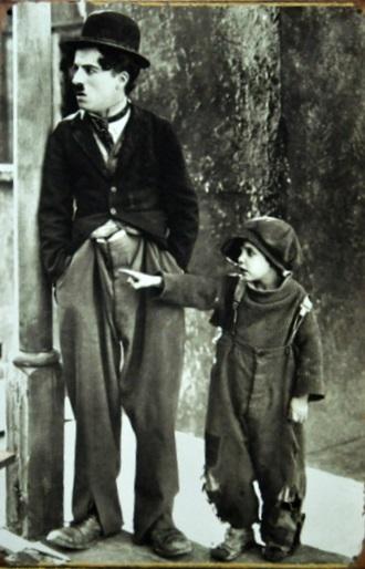 Plechová ceduľa Charlie Chaplin street