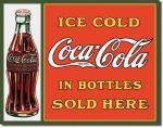 Plechová ceduľa Coca cola in bottles